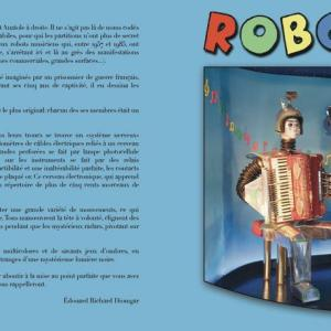 """ Robots Music "" 										Type Faire-part plié - 001 										(2x) A5 - 420 mm x 148 mm  										Page 1-4 										320 g/m2"