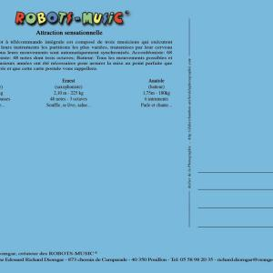 """ Robots Music "" 										Carte postale-008  										""Type Standard"" 										A5 - 210 mm x 148 mm 										Recto  										320 g/m2"